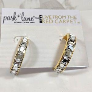Park Lane Rhinestone Crescent  Hoop Earrings